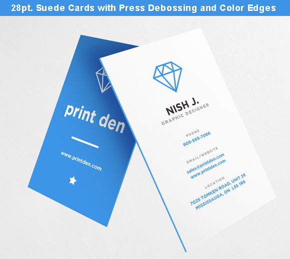Debossed business cards canada toronto mississauga blind debossing debossed business cards canada toronto reheart Images