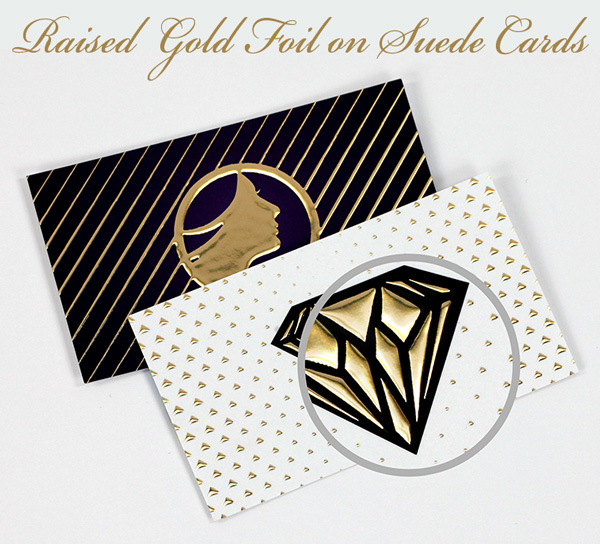 raised gold foil cards mississauga toronto canada