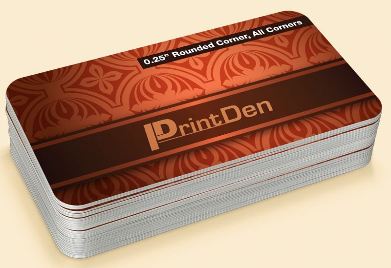 rounded corner business cards with matte coating