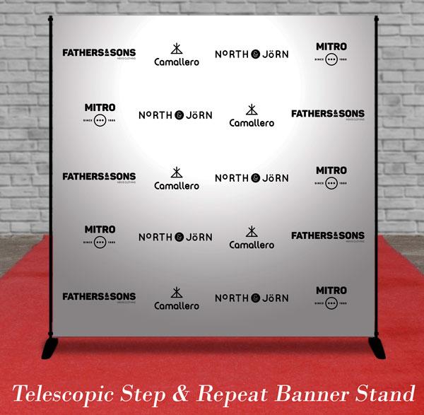 telescopic step & repeat banner stand toronto mississauga brampton Canada