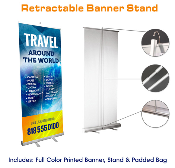 Retractable, Roll up Banner Stands Mississauga Toronto