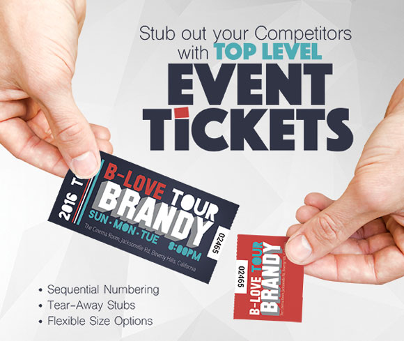 custom event ticket printing toronto mississauga canada quick