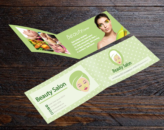 Folded business card printing toronto mississauga cheap foldover folded business cards reheart Images
