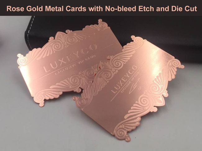 Rose Gold metal business cards
