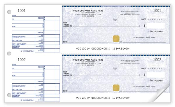 manual cheque with hologram