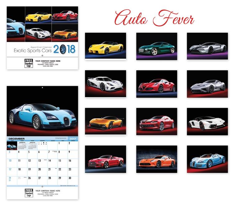 auto fever calendar design