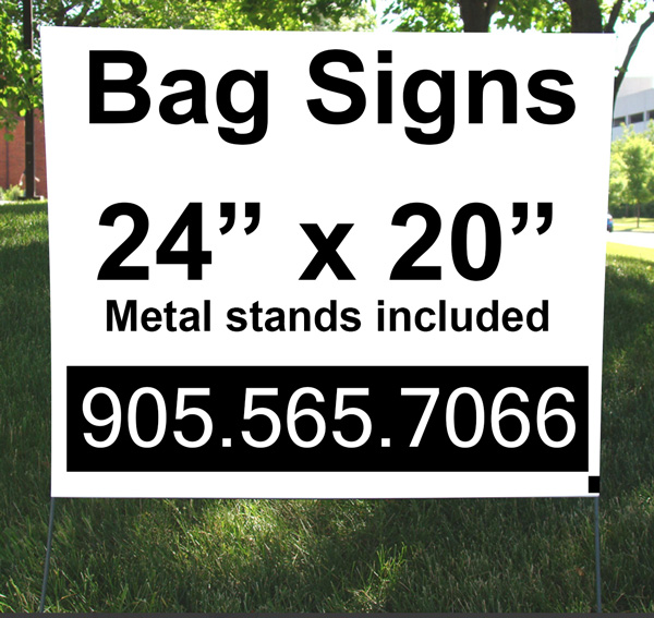 Cheap Plastic Lawn Signs Yard Bag Signs Canada Poly Bag