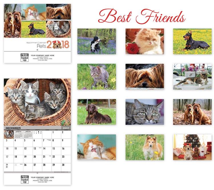 wall calendar-best friends