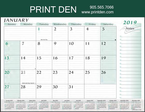 Custom Desk Pad Planner Calendar Print Den