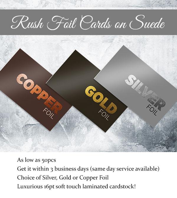 rush premium foil business cards
