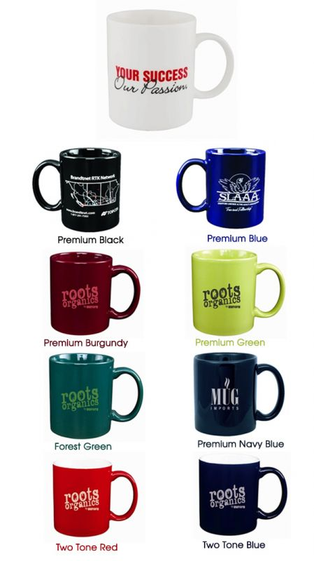 mugs-screen printed