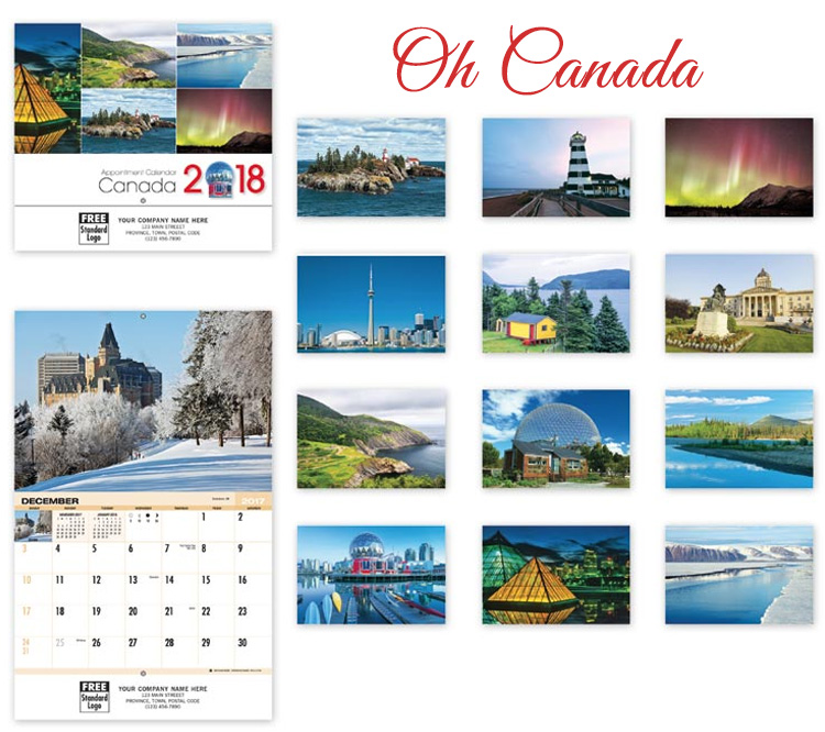 oh canada calendar design