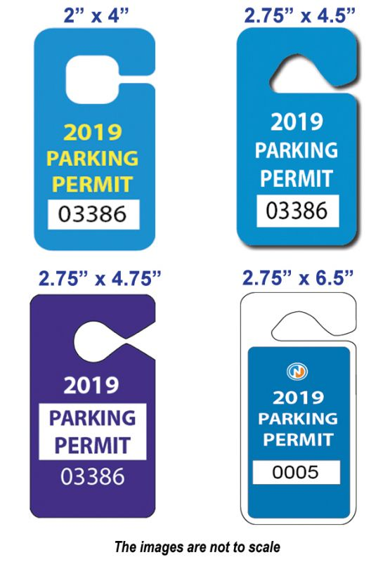 plastic parking tags canada