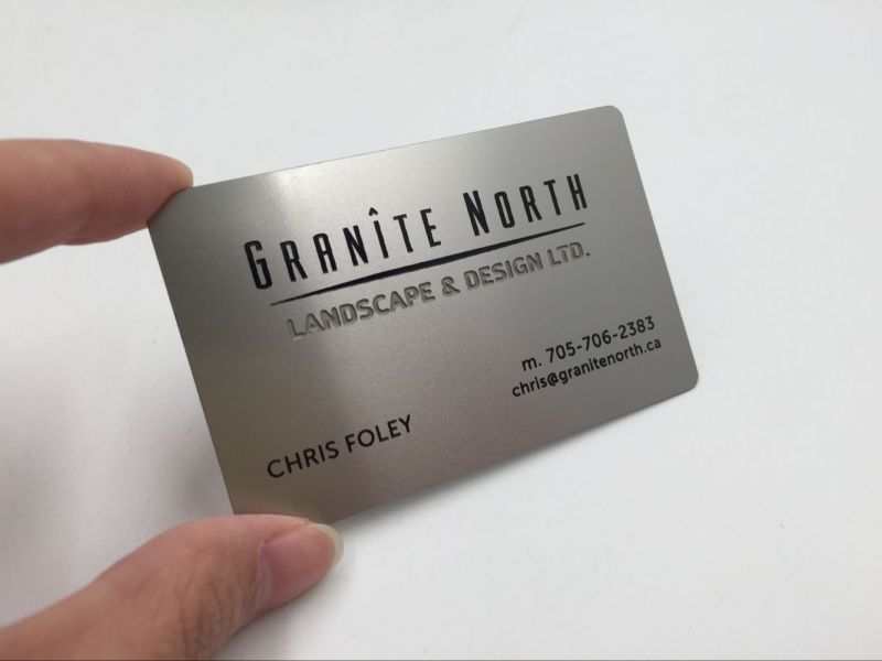 Metal Business Cards Canada | Stainless Steel Metal Business Cards ...