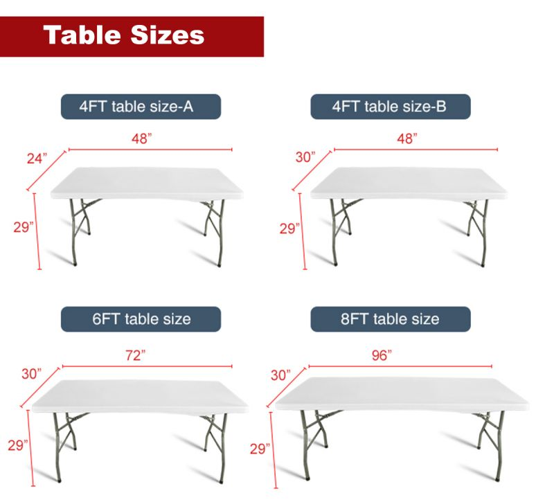 table-sizes