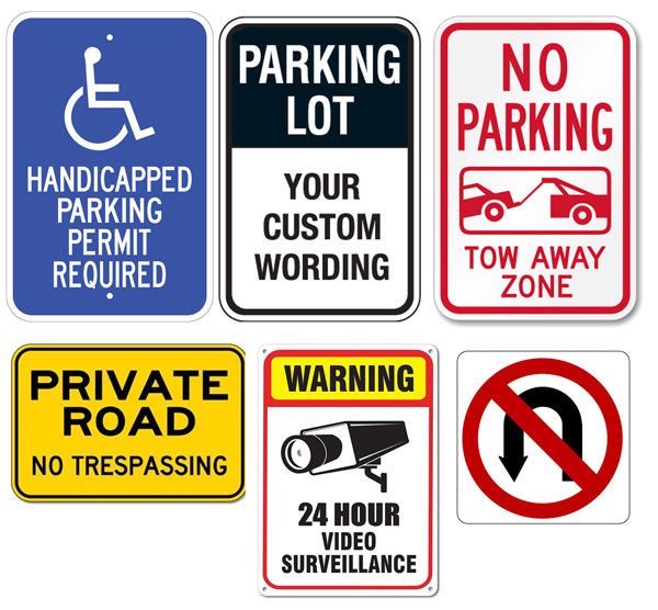 parking signs or property signs toronto mississauga canada