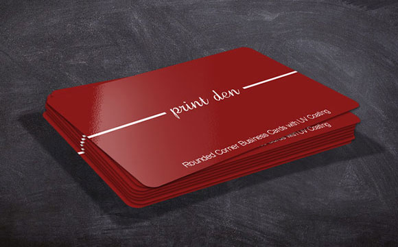 Rounded Corner Business Cards Toronto, UV coated