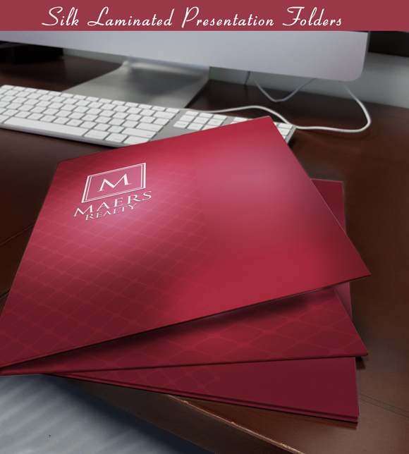 Silk Laminated presentation folders